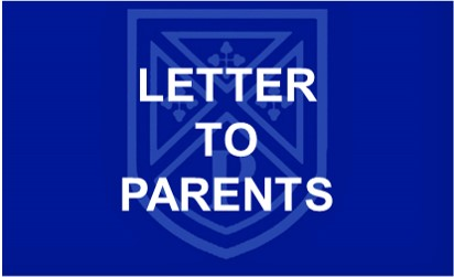Covid 19 Letter to parents button