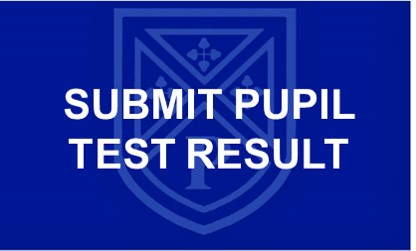 Covid 19 Test Result button