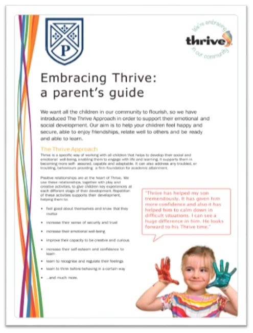 New Thrive booklet