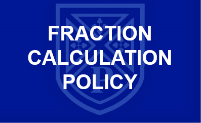 Fractions calculation policy